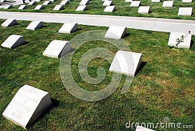 Турецкое воинское кладбище Редакционное Стоковое Изображение