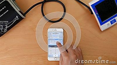 Укомплектуйте личным составом inputting его данные по кровяного давления в ehealth app iphone видеоматериал