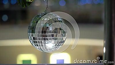 Украшенный шарик диско акции видеоматериалы