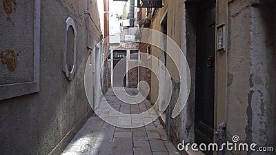 улица венеции, пешеходная дорожка, италия, чжиюн сток-видео