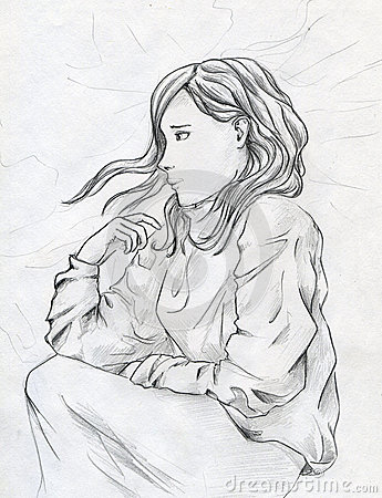 Унылая девушка