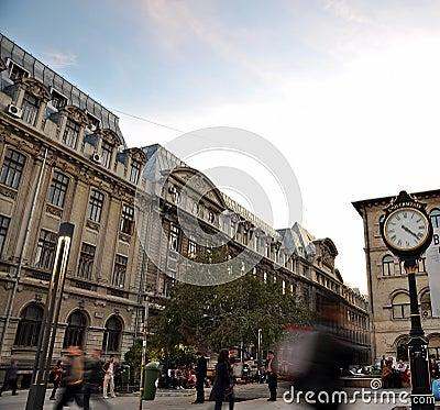 Упущение времени улицы Редакционное Изображение