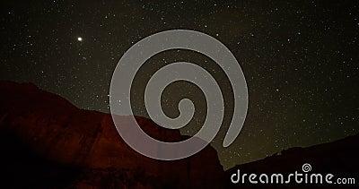 Упущение ночи withmountains звездной ночи акции видеоматериалы