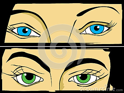 Установленные глаза