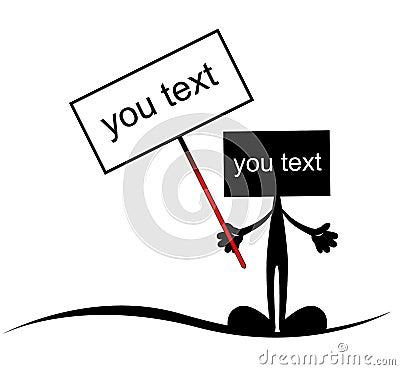 установьте текст
