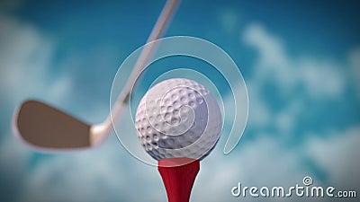 Удар гольфа акции видеоматериалы