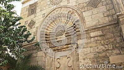 Фасад мечети аль-акмар в Кайро сток-видео
