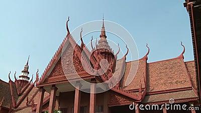 Фасад Национального музея Камбоджи в Пномпене акции видеоматериалы