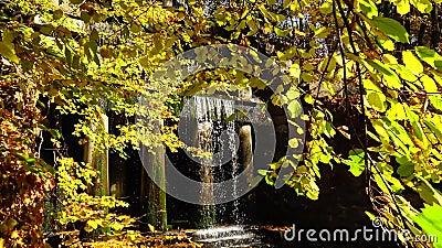 Фетыдий Гротто с памятником Венера, Софиевский парк, Уман, Украина сток-видео