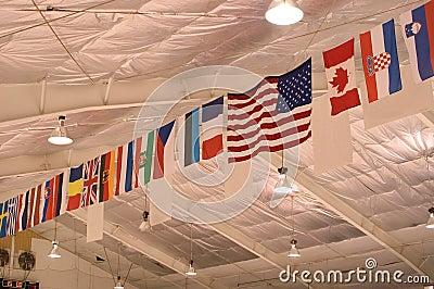 флаги потолка