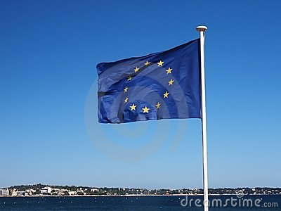 флаг европы пляжа