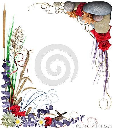 флористическая рамка 2