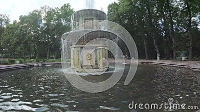 Фонтаны в парке Peterhof видеоматериал