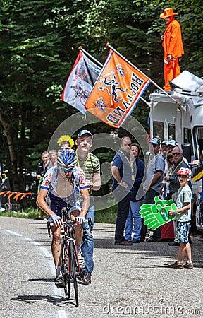 Французский велосипедист Marino Jean Марк Редакционное Изображение