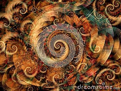 холодные фрактали закручивают в спираль свирли