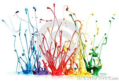 цветастый брызгать краски
