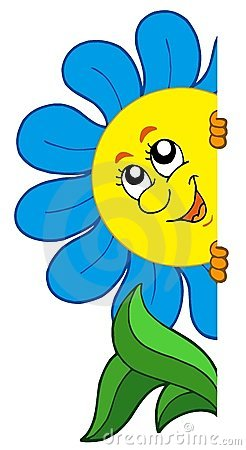 цветок шаржа скрываясь
