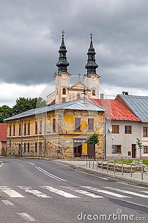 Церковь в городке Podolínec