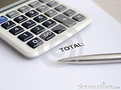 Чалькулятор и ручка
