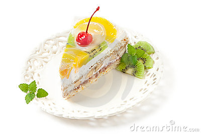часть плодоовощ торта