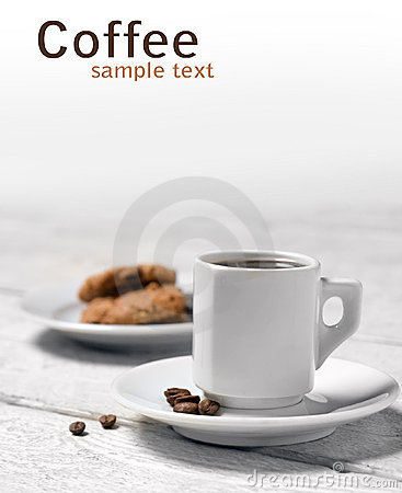 чашка печений кофе