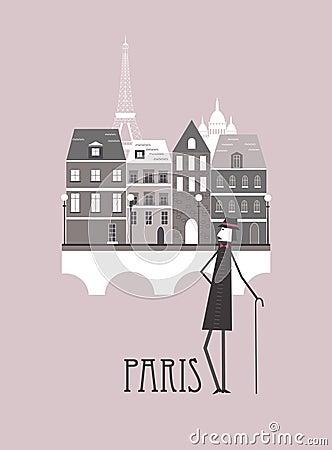Человек в Париже