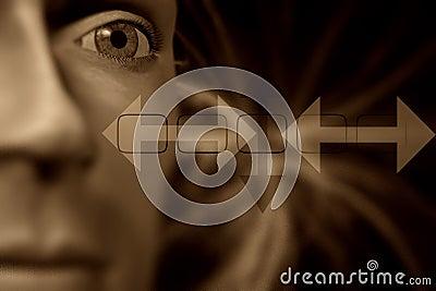 человек головки фокуса глаза