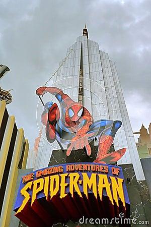человек-паук Редакционное Фото