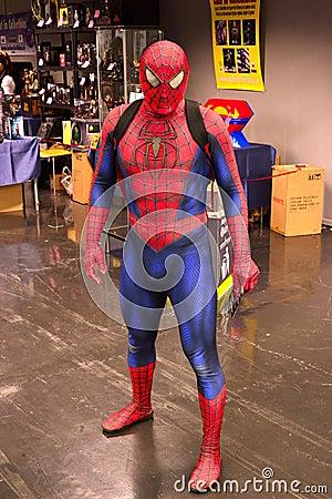 Человек-паук Редакционное Фотография