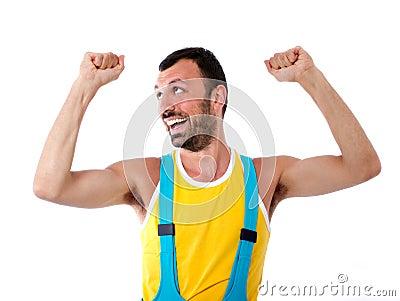 Человек gesturing с руками
