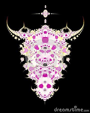 череп фрактали коровы