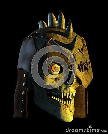 череп демона сражения