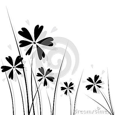 черные цветки
