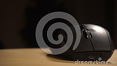 7 черных кнопок имеют радиотелеграф мыши сток-видео
