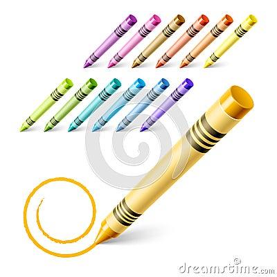 чертеж crayons