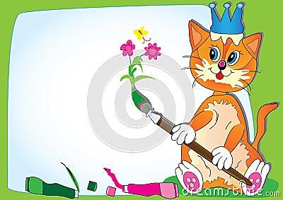 чертеж eps кота учит