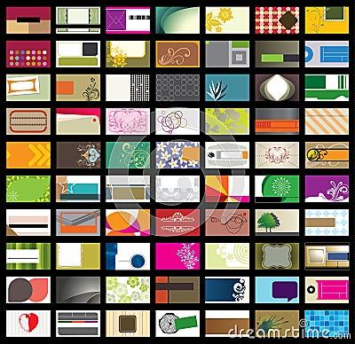 шаблон визитной карточки set2