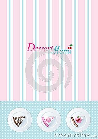 шаблон меню десерта