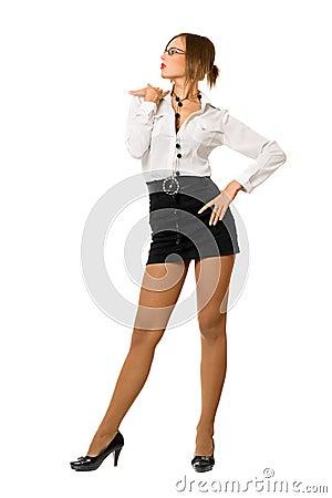 шикарная девушка в юбке