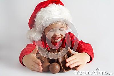 шоколад маленький santa