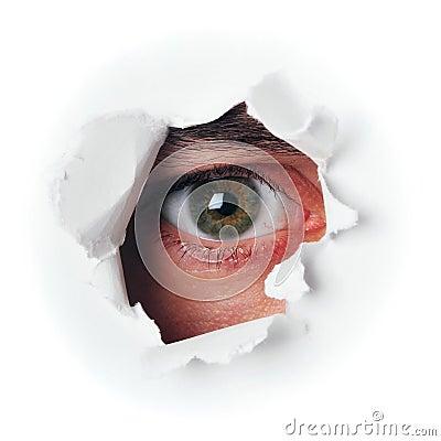 шпионка глаза