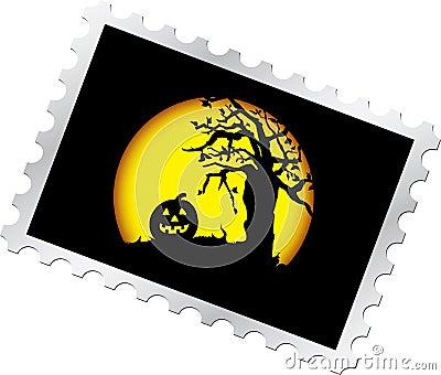 штемпель почтоваи оплата s ночи 14 halloween