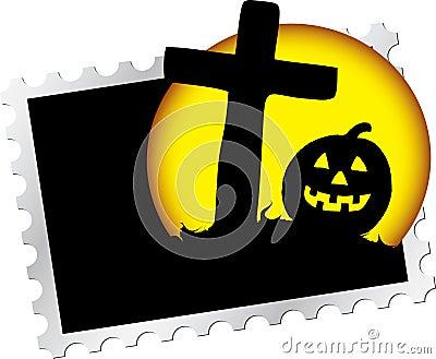 штемпель почтоваи оплата s ночи 15 halloween