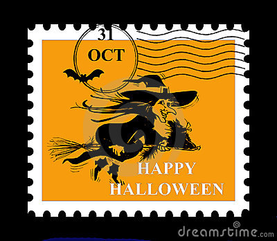 штемпель halloween