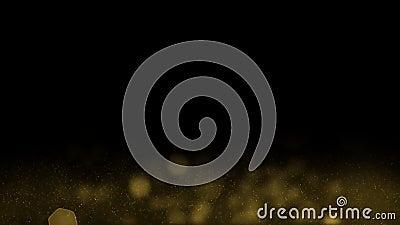 Элегантность винтажной темной предпосылки золота наградная иллюстрация штока