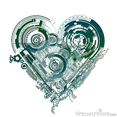 схема в форме сердца.