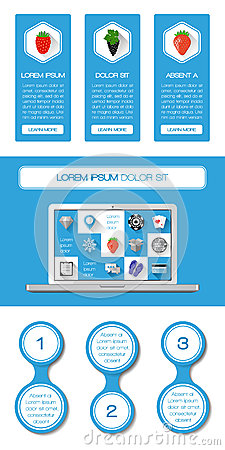 Элементы Ui, infographics и сети