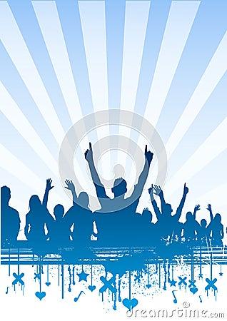 ясное небо партии толпы