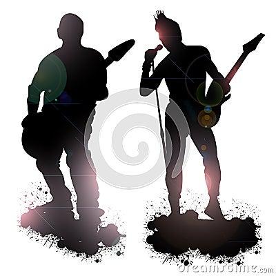 摇滚乐队成员 图库摄影图片