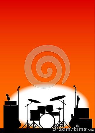摇滚乐队海报 库存例证